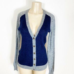 J Crew Cardigan Sweater Blue and Gray size Large